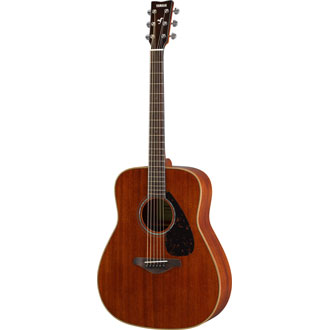 Yamaha FG850 Folk guitar; solid mahogany top, mahogany back and sides, die-cast chrome tuners; Natu