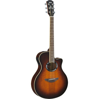 Yamaha APX500FMIIOVS Thinline Body Acoustic Electric Guitar