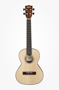 Kala KASSTUSMTC Tenor Travel Uke Cutaway Solid Spruce Spalted Maple