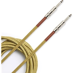 D'Addario PW-BG-20TW Custom Series Braided Instrument Cable, Tweed, 20'