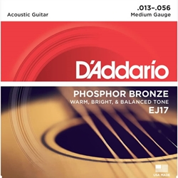 D'Addario EJ17 Acoustic Medium Strings