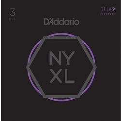 D'Addario NYXL1149 Nickel Wound Electric Guitar Strings Medium 11-49