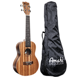 Amahi UK120TW Ukulele, Tenor Select Mahogany